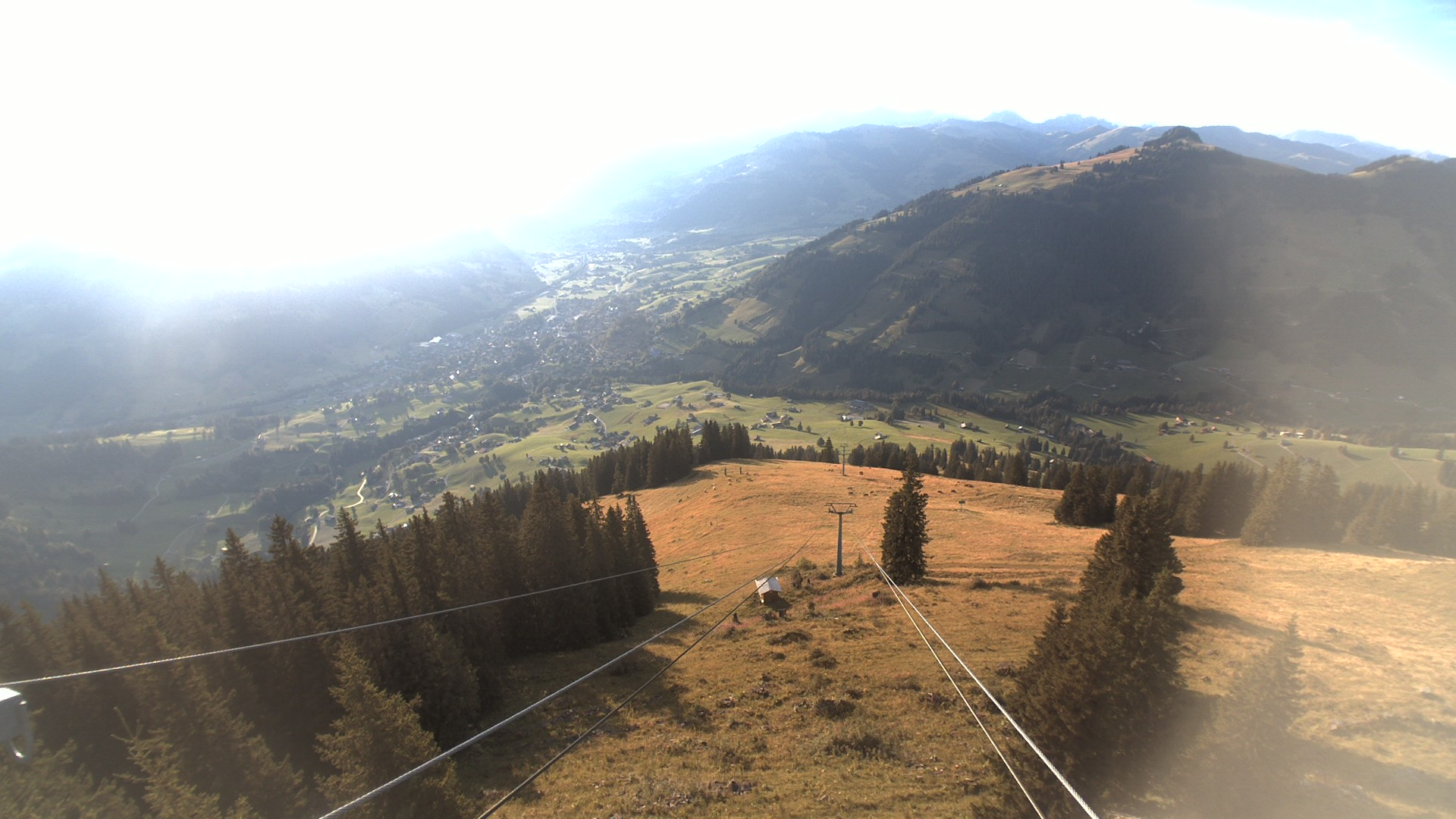 View over Gstaad from Wasserngrat top station
